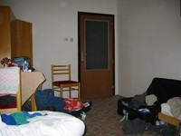 our room, untidy as always