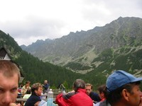 beautiful landscape at high tatras