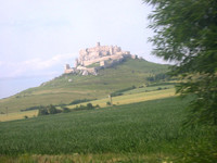 Spis castle - at this time i didn't know yet that we would visit it two days later.