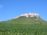 finally, we are approaching the beautiful Spis Castle!